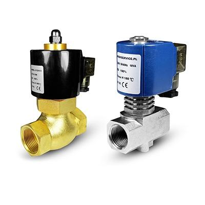 Elektromagnetické ventily horké vody a vody 180 ° C