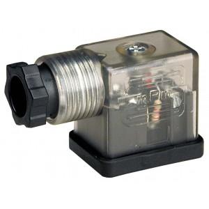 Připojte k solenoidovému ventilu DIN 43650B s LED - malý