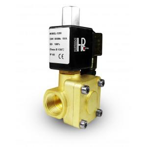 Elektromagnetický ventil otevřený 2K15 NO 1/2 palce 230V nebo 12V 24V