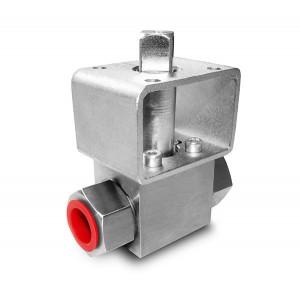 Vysokotlaký kulový kohout 1/4 palce SS304 Montážní deska HB22 ISO5211