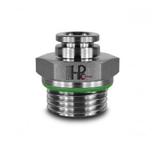 Uzavírací vsuvka přímá nerezová hadice 8mm závit 3/8 palce PCS08-G03