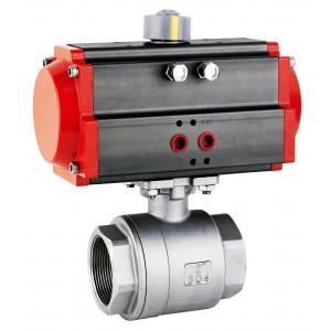 Kulový ventil z nerezové oceli 2 1/2 palce DN65 s pneumatickým pohonem AT83