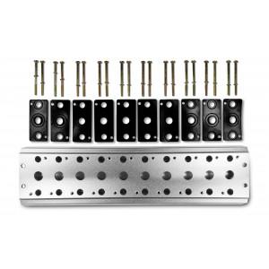 Deska kolektoru pro připojení 10 ventilů Řada 1/4 řady 4V2 Skupina ventilů 4A 5/2 5/3