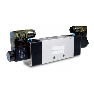 Solenoidový ventil 4V220 5/2 1/4 palce pro pneumatické válce 230V nebo 12V, 24V