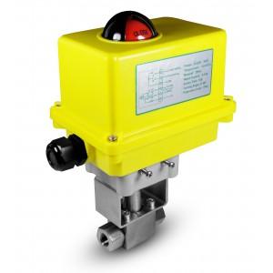 Vysokotlaký kulový ventil 1/4 palce SS304 HB22 s elektrickým pohonem A250