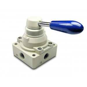 Ruční ventil 4/3 4HV230-08 1/4 palcový pohon