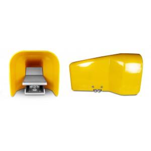 Nožní ventil, vzduchový pedál 5/2 1/4 pro válec 4F210LG - bistabilní s krytem