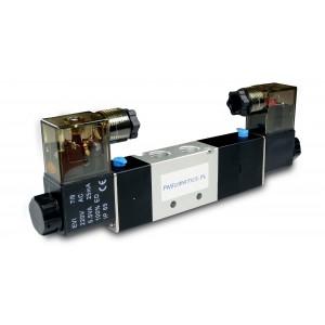Elektromagnetický ventil 4V230C 5/3 1/4 palce pro pneumatické válce 230V nebo 12V, 24V
