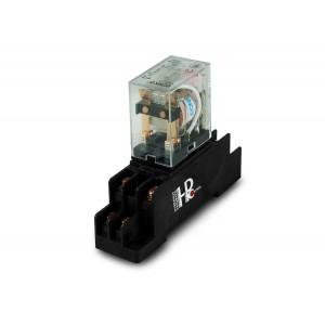 Relé 10A, 2x NO / NC se základnou pro montáž na lištu DIN