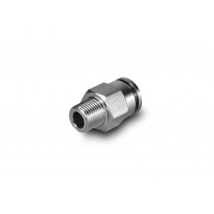 Připojovací vsuvka přímá nerezová hadice 6mm závitem 1/4 palce PCSW06-G02