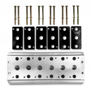Kolektorová deska pro připojení 6 ventilů řady 1/4 4V2 4A ventilové svorky skupiny 5/2 5/3