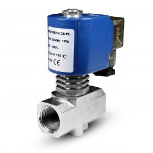 Solenoidový ventil pro páru RV15 1/2 palce 180 °