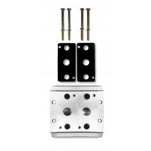 Kolektorová deska pro připojení 2 ventilů řady 1/4 4V2 4A skupinový ventilový terminál 5/2 5/3