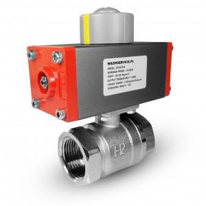 Mosazný kulový ventil 1 palce DN25 s pneumatickým pohonem AT32