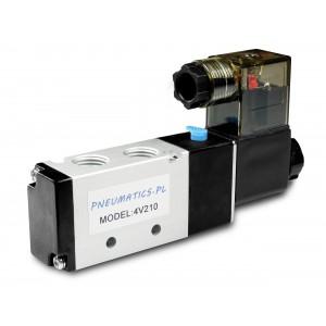 Solenoidový ventil do pneumatických válců 4V210 5/2 1/4 230V 12V 24V