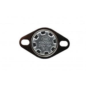 Bimetalový termostat, NC teplotní senzor 5 ℃ 10A 230VAC typ KSD301