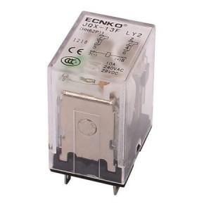 Relé 230V AC, 10A, 2x NO / NC bez základny