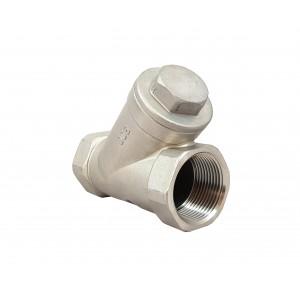 """Zpětný ventil typu Y, vyrobený z nerezové oceli SS316, 1 1/4"""", DN32"""